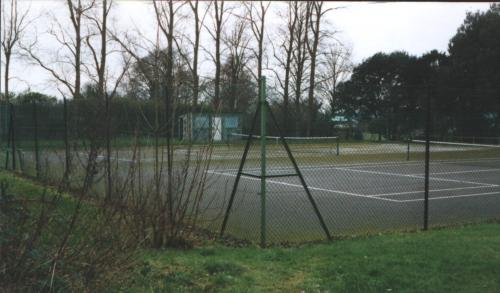 Odiham tennis club courts prior to 1999